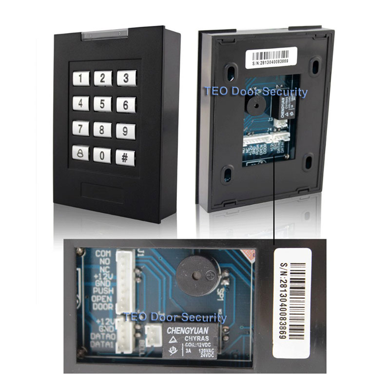 Keypad Door Access Control RFID Card  1000 Users Entry System Door Accessories Manufacturer Digital Keypad  Entrance Gates metal rfid em card reader ip68 waterproof metal standalone door lock access control system with keypad 2000 card users capacity
