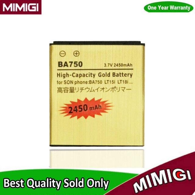 JESSQUE 2450mAh BA750 Battery For Sony Ericsson For Xperia X12 Arc S Acro LT15i S LT18i So-02c Back up Bateria Batterij AKKU