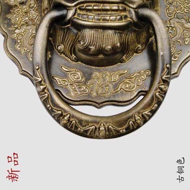 [Haotian wegetariańskie] specjalna chińska starożytna bestia uchwyt miedzi kołatka uchwyt w kształcie pierścienia HTA-097