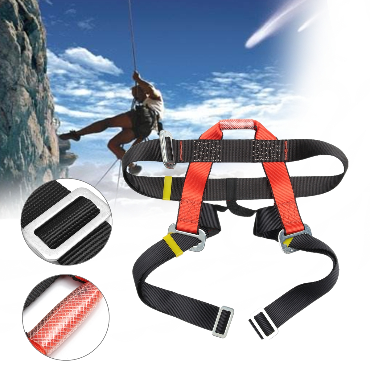 Outdoor Climbing Safety Belt Half Body Protecting for Rock Climbing Downhill Harness Rappel Safety Belt climbing accessoriesOutdoor Climbing Safety Belt Half Body Protecting for Rock Climbing Downhill Harness Rappel Safety Belt climbing accessories