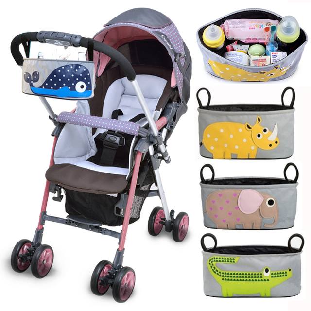 a8d2f98913a8 Baby Stroller Accessories Baby Diaper Bags Stroller Organizers Cup Bag  Basket Pushchair Baby Carriage Pram Buggy Accessory
