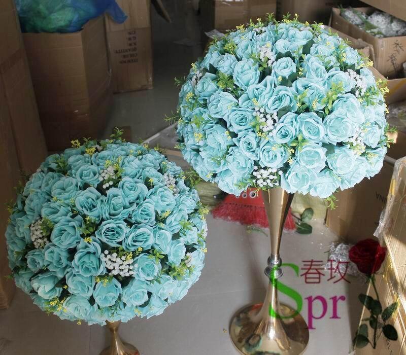 Spr New2018 Tiffany Blue Wedding Centerpiece Table Flower Ball