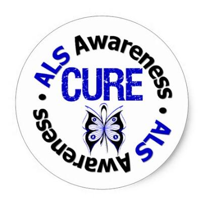 US $20 0 |1 5inch ALS Awareness CURE Butterfly Ribbon Classic Round  Sticker-in Stationery Stickers from Office & School Supplies on  Aliexpress com |