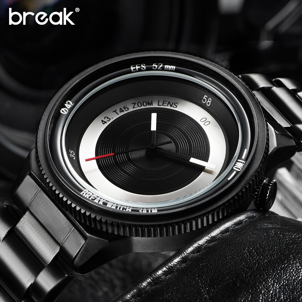 Break Photographer Creative Unique Wrist Watches Mens Top Lu