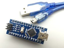 10set = 10pcs Nano V3.0+10pcs USB Cable ATmega328 Mini-USB Board CH340G for arduino NANO 328P