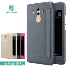 for Huawei Mate 10 Pro Case NILLKIN Sparkle Luxury Flip Leather Cases Back Cover Phone Case for Huawei Mate 10 Pro Flip Cover