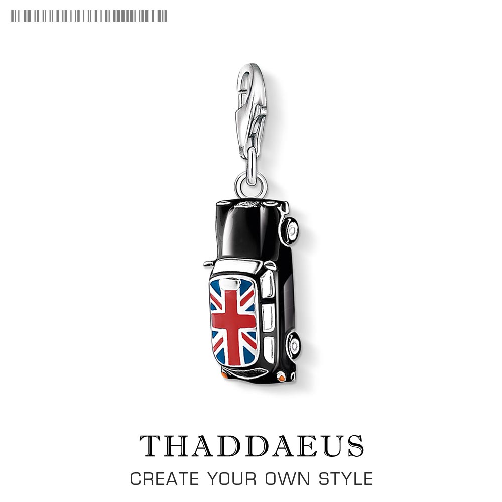 Black Car London Taxi Pendant Charm 2019 New Arrival 925 Sterling Silver City Gift Simple Fashion Jewelry Fit Bracelet Necklace