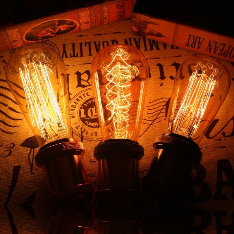 Retro Vintage Edison bulb E27 Ampoule Vintage Bulb 40W 220V Edison Lamp Filament Incandescent Light bulb For Home Decor in Incandescent Bulbs from Lights Lighting