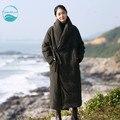 LinenAll вниз оригинальный дизайн женская элегантный зеленый старинные зима вышивка пуховик длинные китайском стиле вниз верхняя одежда муйи