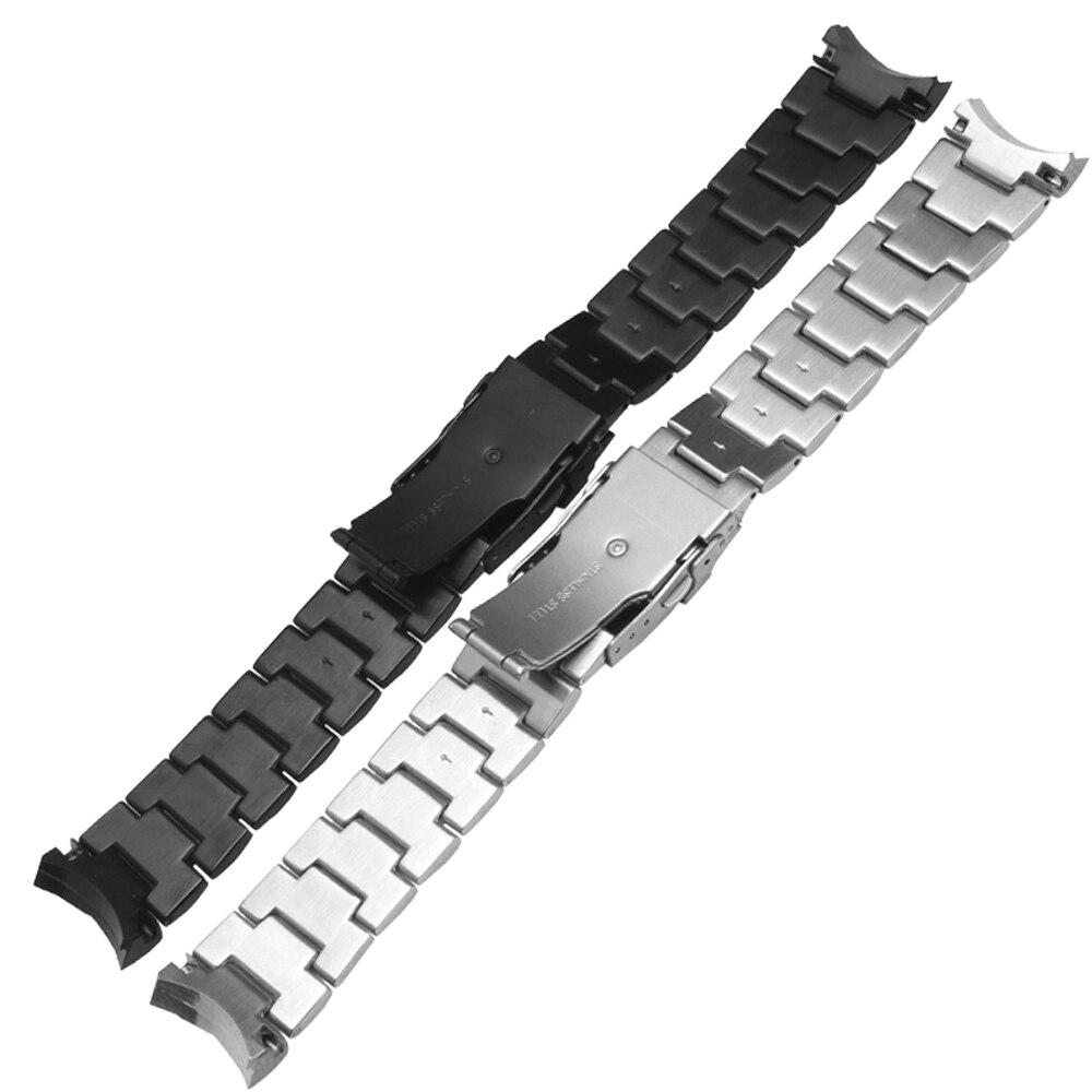Pulsera de acero inoxidable 316L hebilla de despliegue para Casio EF 550  correa de reloj para hombre 22mm correa de reloj negra plateada EF 550D en  Correas ... 19d2aa8bf272