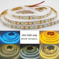 Гибкая светодиодная лента 5 м 2835 SMD DC 12 V 120 светодиодный s/M без водонепроницаемости белый/теплый белый/натуральный белый/синий/голубой/Золото...