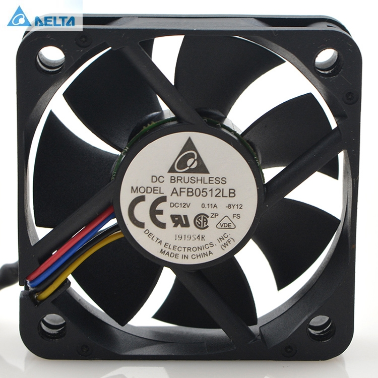 Original Delta AFB0512LB 5015 5CM 0 11A 4 wire speed ball silent cooling fan