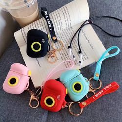 Cartoon Camera Earphone case For Airpods Wired Charging Box Cases Silicone Cover For Apple AirPods Wireless Headphone Accessorie