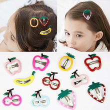 1Pair Cherry Strawberry Korean Cute kids Lovely Frunt Hair Clips Hot Sale Banana Free Shipping New Arrival Exquisite Unique
