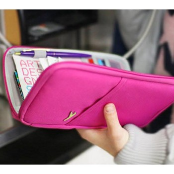 Travel Accessories Storage Bags For Travel Wallet With Passport Cover Credit ID Cards Tickets Holder Purse Bag Oxford Wallets