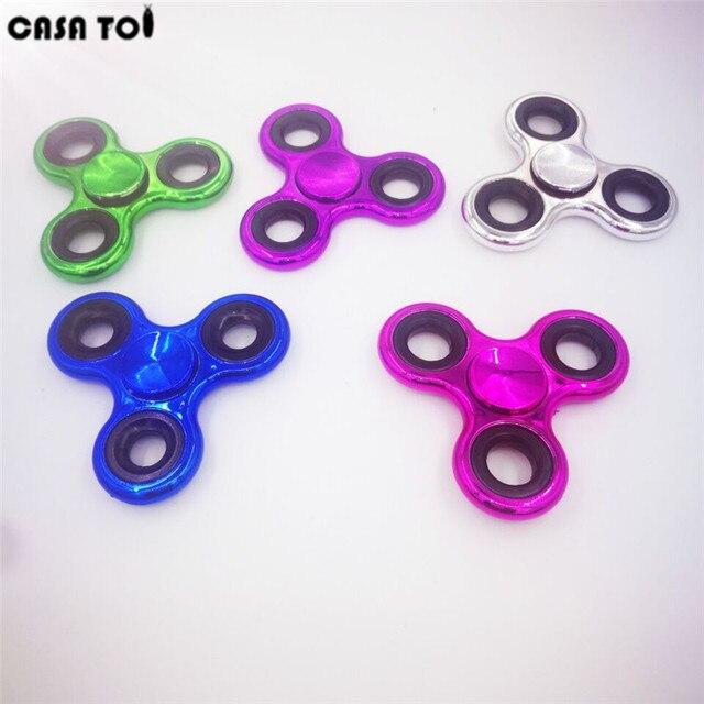 Новый ручной Tri-Spinner Непоседа игрушки Пластиковые EDC сенсорная Непоседа счетчики для аутизма и СДВГ Дети/взрослых, смешные стресс игрушки