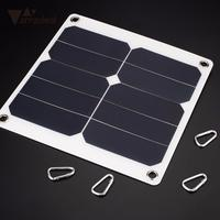 AMZDEAL Solar Panel 5V 10W Solar Charger Cell Phone Battery Charging Tablet Charger With USB Port Outdoor Camping For Samsung