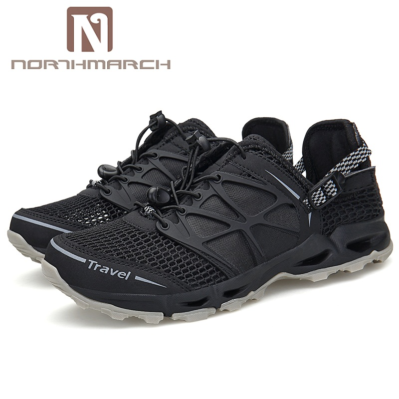 NORTHMARCH Men Casual Shoes Lightweight Breathable Flats Men Shoes Lace-Up Mens Trainers Mens Shoes Summer Chaussure Homme
