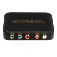 1080P HDMI to 5RCA RGB YPBPR Scaler Component Video Audio Converter For SKY HDTV Compatible With All HD Device Plug and play