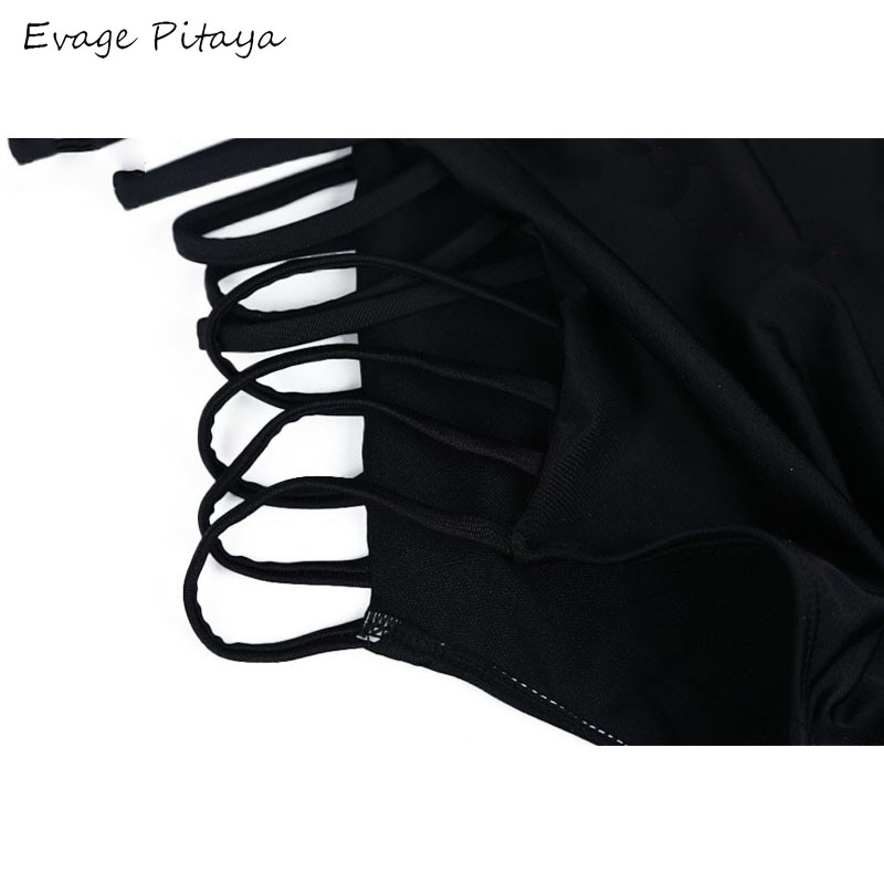 f194bea316871 2017 Sexy Cheap Strappy Bandage High Waisted Bikini Bottom Hollow out Black  Halter String Bathing Suit Women's Swimsuit Swimwear-in Bikinis Set from  Sports ...