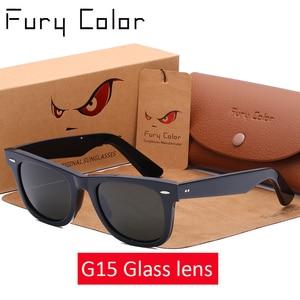 Image 1 - Lente de vidro retro óculos de sol dos homens das mulheres acetato óculos de sol 2140 marca luxo rebite design óculos femininos elegantes quadrados oculos