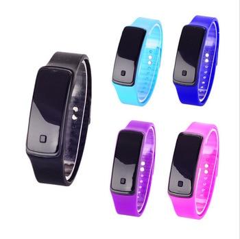 Fashion hand ring Watch Women Men Sport Watches Touch Screen LED Digital watches Silicone strap Wristwatch relogio feminino Women Quartz Watches