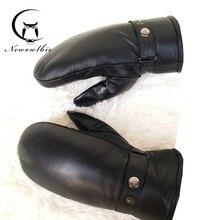 Men sheepskin gloves genuine leather glove for men winter Outdoor warm fur thickening thermal