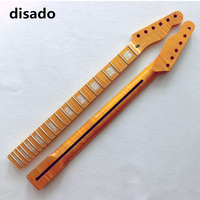 disado 21 22 24 Frets maple Electric Guitar Neck maple fretboard glossy paint guitar parts accessories can be customized wilkinson guitar accessories st electric guitar three single coil pickup all colors can be customized real photos free shipping