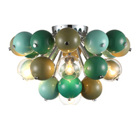 Nordic Post Modern Fashion Meatl Glass Led Ceiling Lamp For Living Room Kid S Room Colorful