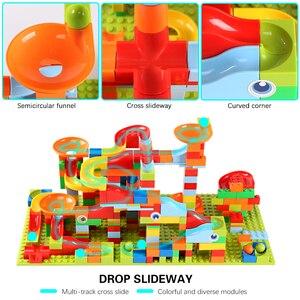Image 5 - 165 330 stücke Kleine Größe Marmor Rennen Run Stadt Blöcke Track Bausteine ABS Trichter Rutsche Montieren Ziegel Spielzeug für Kinder