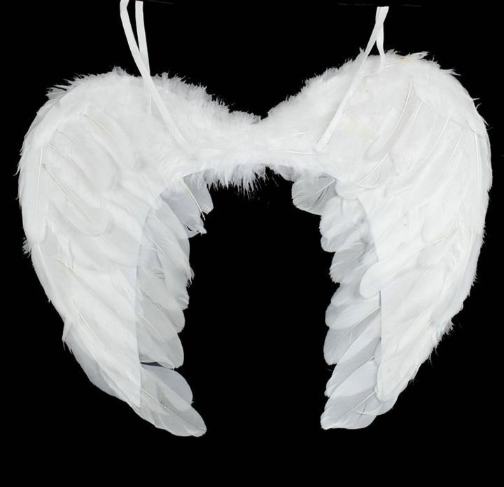 Erwachsene Kinder Feder Flügel Engel Fee Kostüm Halloween Party Prop Neueste