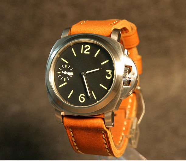 цена на 44mm PARNIS black dial Asian 6497 17 jewels Mechanical Hand Wind movement men's watch green luminous Mechanical watches 18P