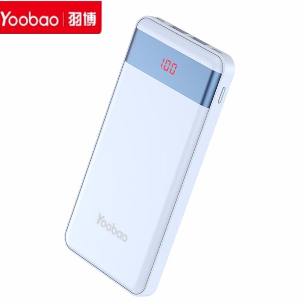 Yoobao 10000mAh-P10000L LCD Power bank Batería de Reserva Externa Portable Dual