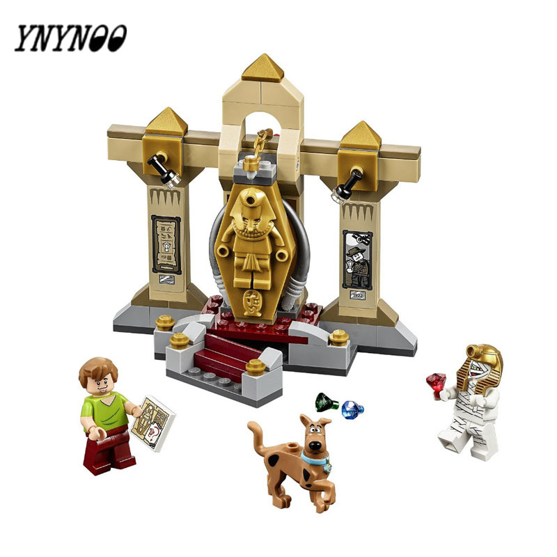 YNYNOO High Quality Scooby-Doo 10428 Mummy Museum Stery Building Block Model Kits Scooby Doo Dog Blocks Toys BL015 bela 10429 scooby doo mummy museum mysterious plane minifigures building block minifigure toys best legoelieds toys