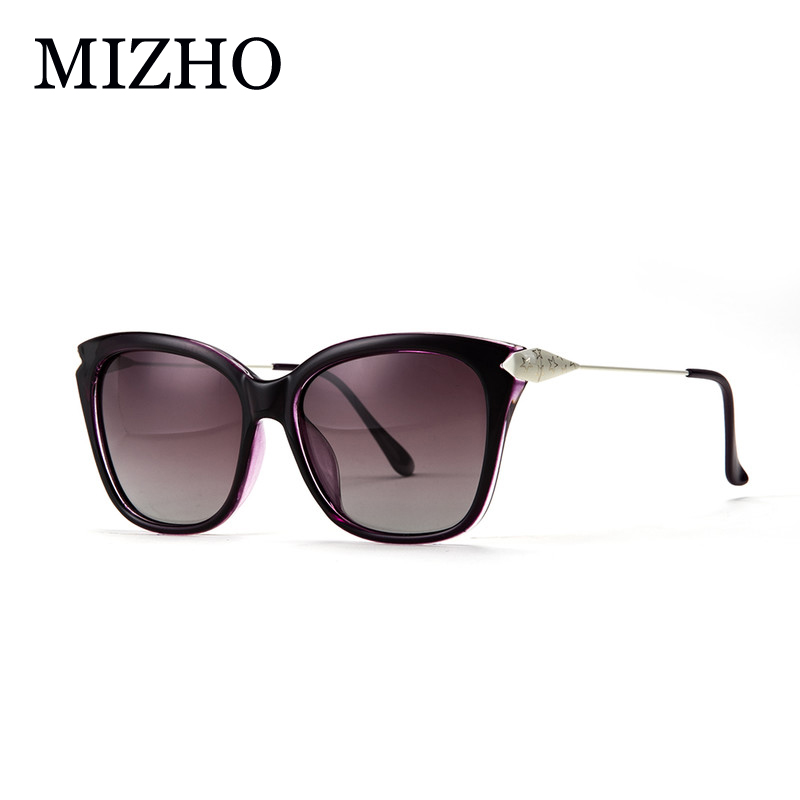 MIZHO vysoce kvalitní antireflexní sluneční brýle Retro Shield Women Polarized oculos Anti Glare Sunglass Ladies Luxury