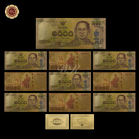 WR Promotional Gift Thailand Colorful Gold Banknote Ideas Gifts 1000 Baht Note Collection Bhumibol Adulyadej Artwork