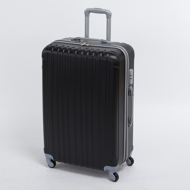 Wholesale!24inch black abs strap trolley luggage on universal wheels,male hardside travel bags,cheap luggage