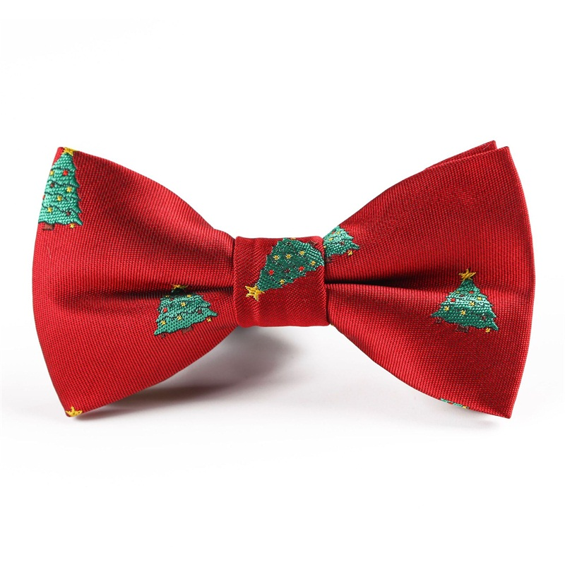 Children Christmas Bow Ties For Baby Boys Shirt Snowflake Pattern Polyester Bowties For Child Christmas Ties Gifts