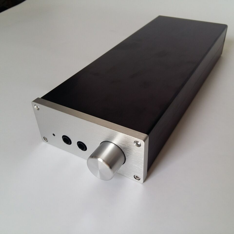 1105 Full Aluminum Lehmann Headphone Amplifier Chassis Hi-Fi Enclosure Audio Amp Case nobsound hi end audio noise power filter ac line conditioner power purifier universal sockets full aluminum chassis