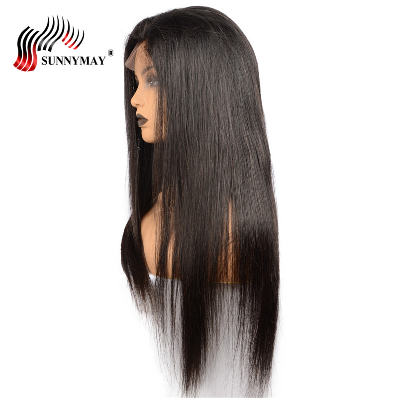 Sunnymay Silk Straight Full Lace Wigs Human Hair Malaysian Virgin Hair Pre Plucked  Human Hair Wigs With Baby Hair