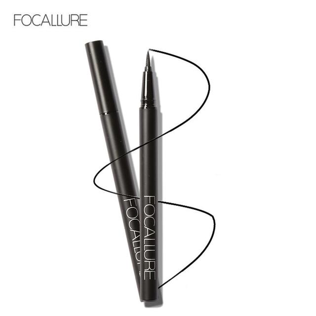 FOCALLURE unids 1 pieza belleza cosmética mujer caliente delineador de ojos negro impermeable delineador de ojos de larga duración lápiz maquillaje