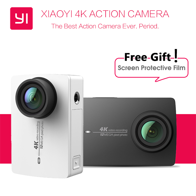 "Prix pour [Édition internationale] d'origine Xiaomi YI 4 K Action Caméra Ambarella A9SE Xiaoyi Sport Caméra 2.19 ""155"" 12.0MP CMOS EIS PMA"