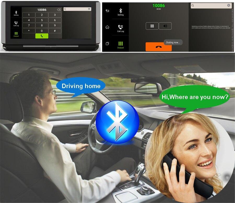 "6.86"" inch 4G ADAS Car DVR Dash Cam Mirror GPS Bluetooth WIFI Android 5.0 Dual Lens FHD 1080p Video Recorder Camera 6"