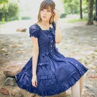 2016 New Fashion Brand Lolita Royal Fairy Tale Summer Retro Lolita Dress Japanese Soft Sister Ruffle