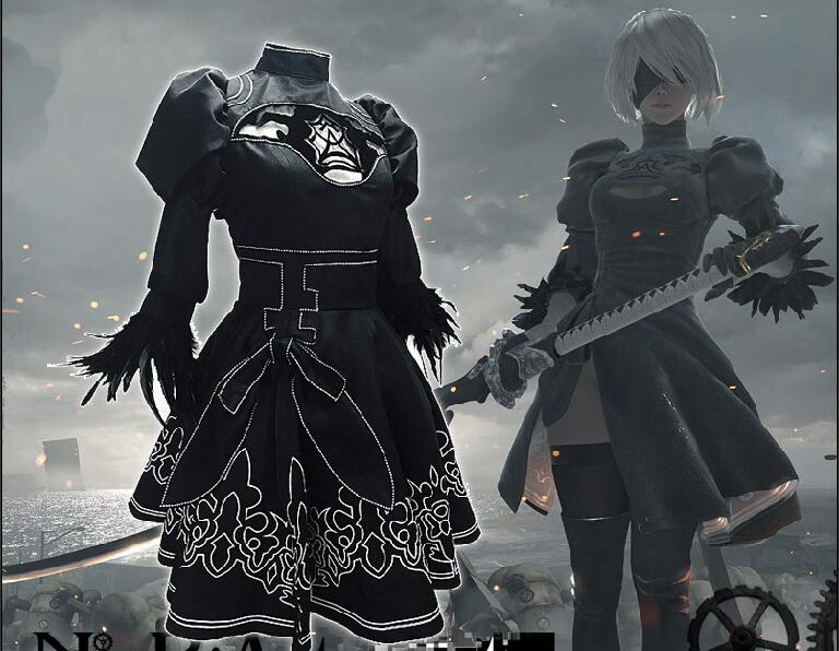 Yorha 2B sexy Outfit Games Suit Women Role Play Costumes Girls Halloween Party Fancy Dress