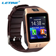 LETINE DZ09 DZ 09 Smartwatch GT 08 Smart Watch 2017 Men Wrist Watch with French for Connected iOS Apple Smartfone Android Phone