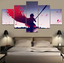 RWBY Ruby Rose Anime Modern Painting Canvas Wall Art 5 Piece HD Print Decor Home Living Room Artwork