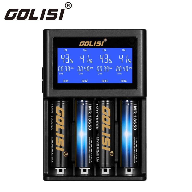 golisi s4 2 0a intelligent lcd charger for 18650 20700 26650 li ion rh aliexpress com