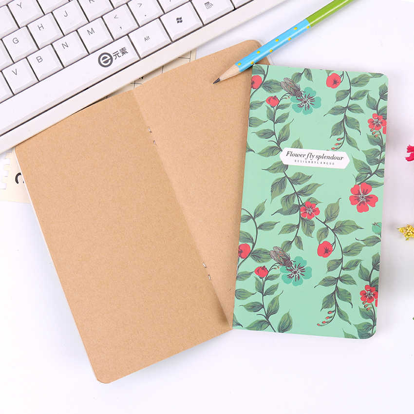 1PC Baru Retro Menari Kupu-kupu Series Notebook Vintage DIY Diary Saku Notepad