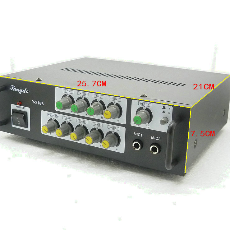 AC220V Y-218B 300W+300W 2-channel home Karaoke digital audio amplifier with microphone input цены